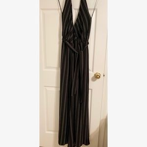 Guess Striped halter jumpsuit WORN ONCE